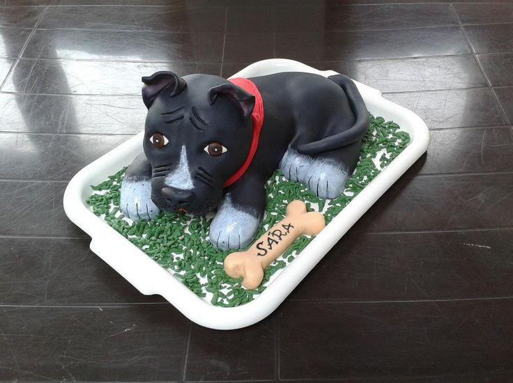 dort - pes Staford 3D / cake - Staford dog 3D