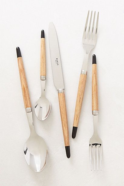 Atelier Flatware #anthropologie black