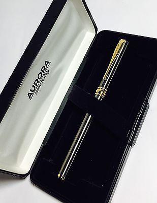 Penna stilografica Fountain Pen Vintage AURORA MAGELLANO Acciaio Satinato e Oro | eBay