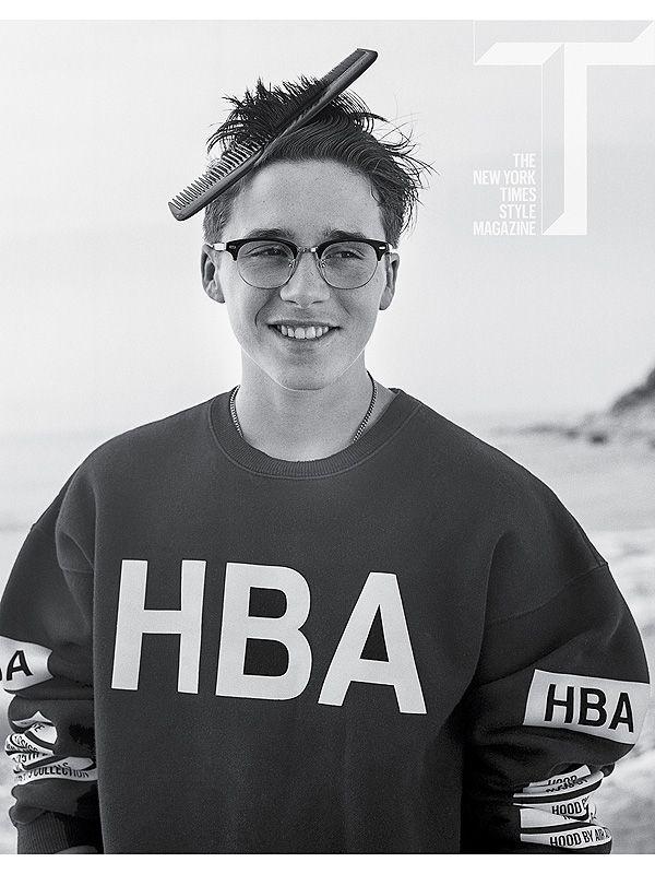 Brooklyn Beckham Covers T Magazine Winter 2014 Issue image Brooklyn Beckham T Magazine 2014 Cover 001