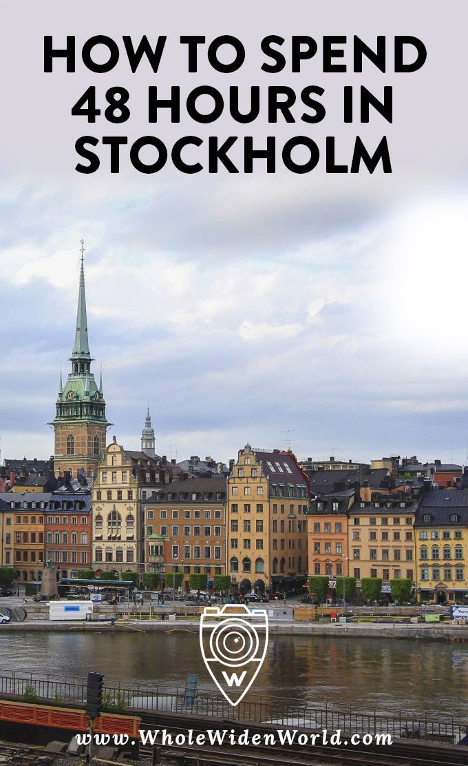48 hour guide to Stockholm: Explore the narrow stone streets of Gamlastan district, get photos and reviews of some of the most popular attractions and museums in Stockholm, and get recommendations on where to stay and shop. | #stockholm #traveltips #travelblog #travelguide #stockholmtravel #wholewidenworld