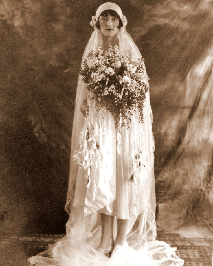 Wedding Wednesday: Great-Aunt Rose's 1925 Bridal Outfit She's not my great aunt, but I loved the dress and the caption