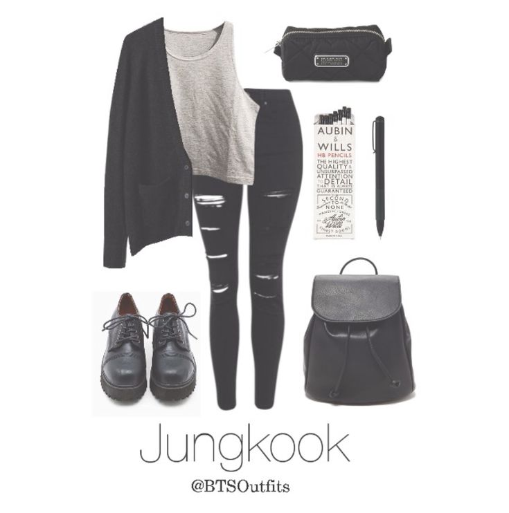 BTS Jungkook School outfit