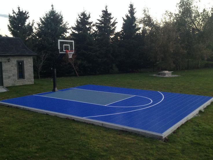 1000 ideas about backyard basketball court on pinterest for Diy sport court