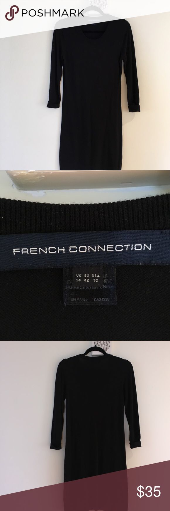 French Connection sweater dress. Size 10 Good condition sweater dress by French Connection. Soft and stretchy but holds form. French Connection Dresses Midi