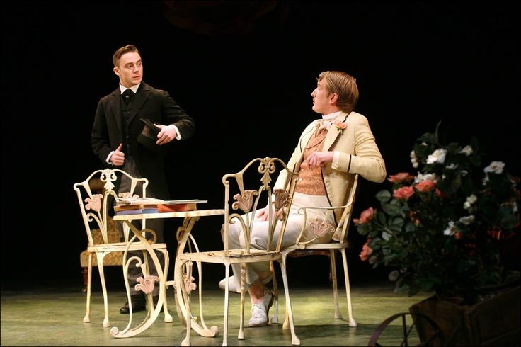Paul Sandys as Jack Worthing, Harry Livingstone as Algernon Moncrieff