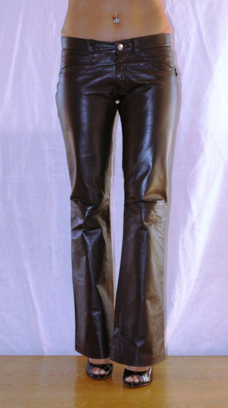 Vintage 90s! Original Argentinian Dark Brown Leather Pants Size S Pantaloni da…