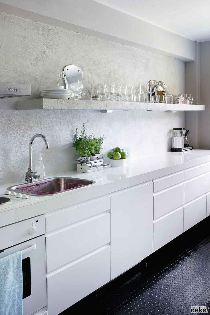 Kitchen concrete shelf