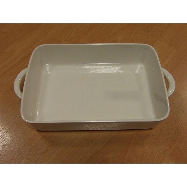 Casserole Dish, White Porcelain