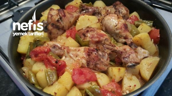 Fırın Poşetinde Sebzeli Tavuk (çok pratik)