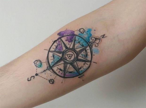 1000 ideias sobre tatuagem pena no pinterest pena for Tatoo bussola
