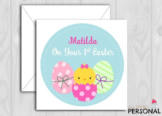 Personalised 1ST FIRST EASTER CARD Chick /& Bunny Daughter Granddaughter