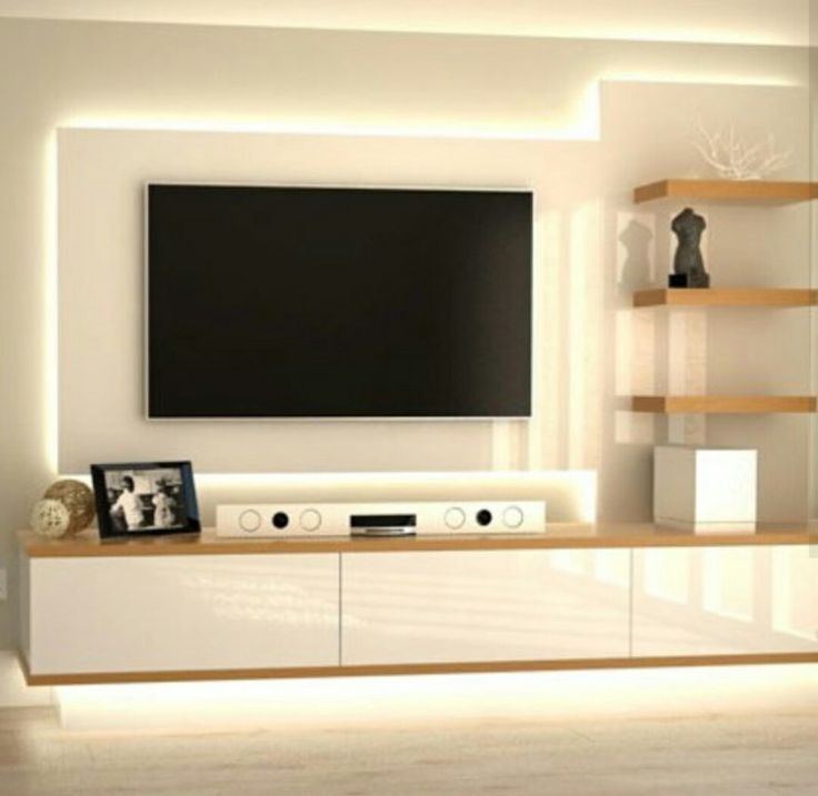 Sleek tv unit design for living room s wall decal for Tv cabinet for small living room