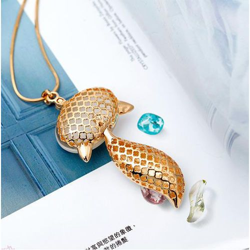 Sexy Animal Sweater Chains For Women Fashion Genuine White Gold Plated Crystal
