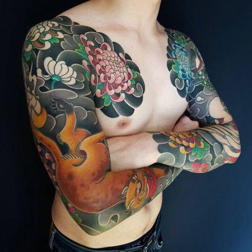 Japanese Tattoo Sleeves Tattoo by Horitada Family