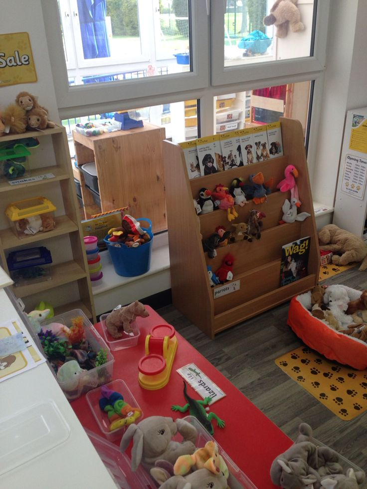 Classroom Pet Ideas : Class pet shop or store role play area in the eyfs