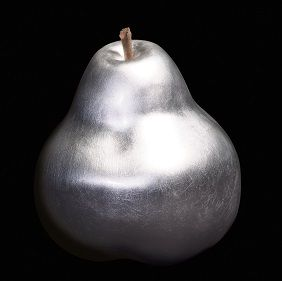 "A silver pear, like the nursery rhyme...""I had a little nutmeg and a silver pear"""