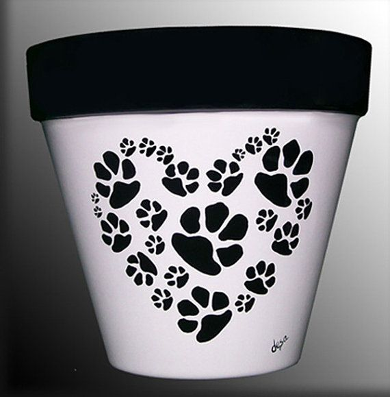 Dog or Cat Paws in a HeartShaped Pattern by DesignsByDesa on Etsy