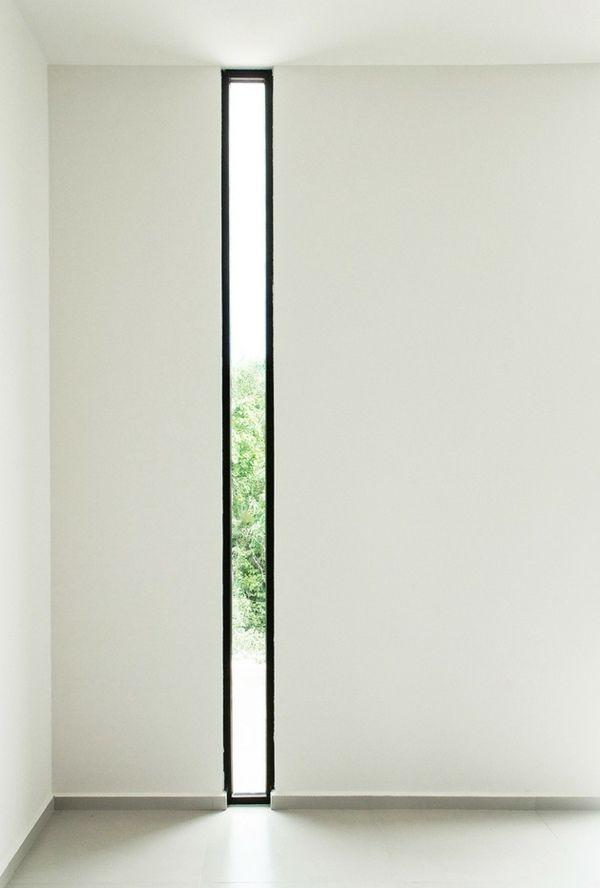 fenêtre design pour un filet de lumière