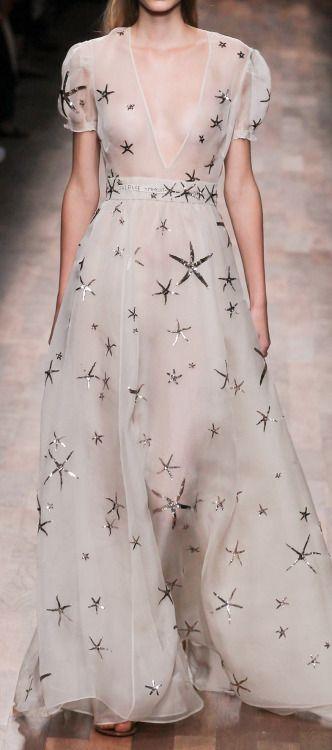 Valentino Silk Starfish Organza Gown