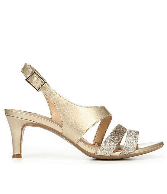 Naturalizer Taimi Glitter & Metallic Dress Sandals
