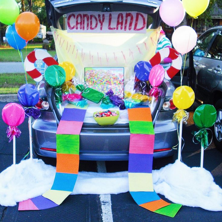 This is a nice size Candy Land for a car. This is super easy to replicate and wouldn't cost much :)