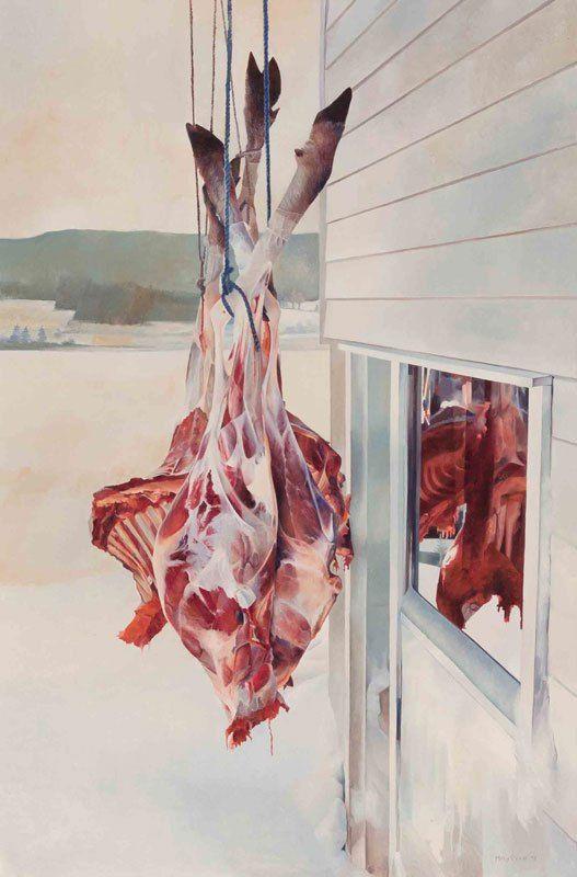 Dick Marries Moose (1973) by Mary Pratt