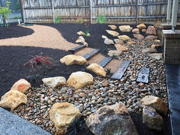 Landscaping Ideas For Backyards With River Rocks