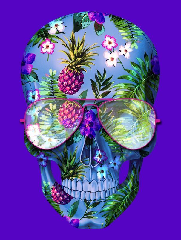 russ_skull-tropical-flowers.jpg (606×800)