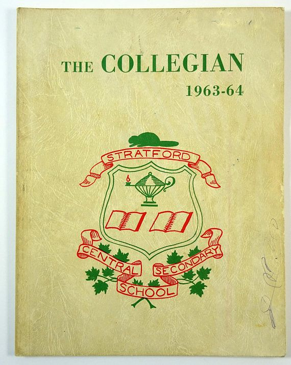 A real find! A yearbook from the Stratford ON Collegiate Institute.  #adoredblessings