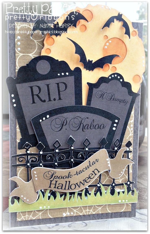 Pretty Paper, Pretty Ribbons: Spook-tacular Halloween card