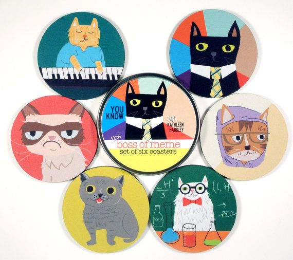 f54a0a2678c68aabb103aaafbf1814f1 cat memes coaster set 42 best food design images on pinterest food design, iceland and,U%C3%B1as Memes
