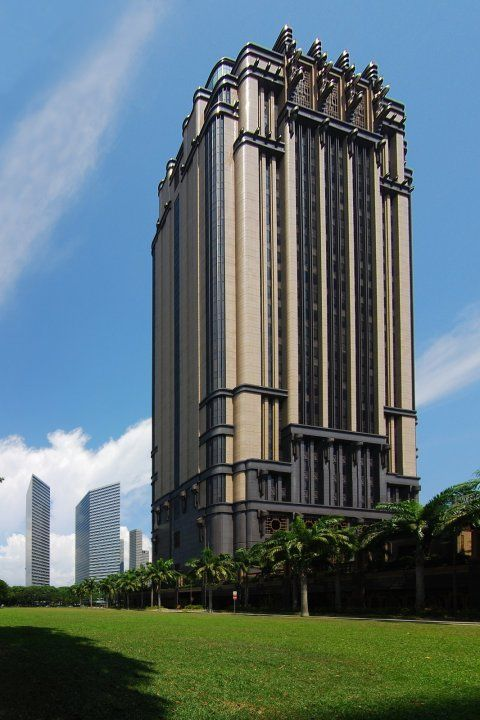 Dieselpunk Architecture | Parkview Square in Singapore - Art Deco skyscraper - Dieselpunks