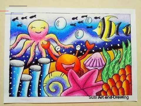 32 Gambar Kartun Di Dasar Laut Cara Mewarnai Gradasi Pemandangan Bawah Laut Dengan Download C Ol Pastellzeichnungen Kunstprojekt Fur Kinder Meer Zeichnung