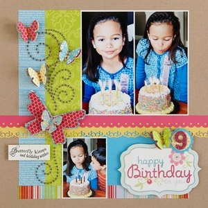 Scrapbook Birthday Layouts