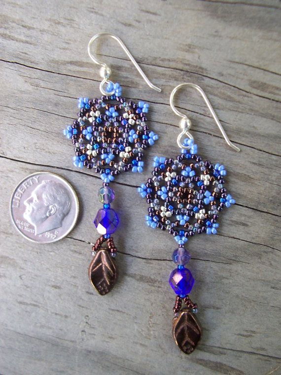 Handmade Artisan Beadwork Earrings  by DancingDogStudio on Etsy, $34.00