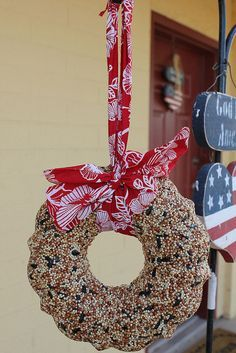 bird seed wreath - we just made one. Anxious to see how it turns out tomorrow.