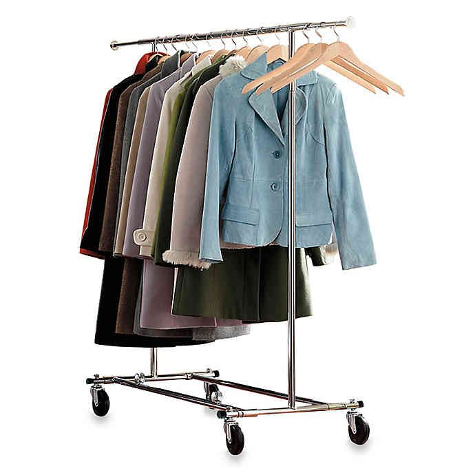 Commercial Grade Portable Folding Adjustable Garment Rack In