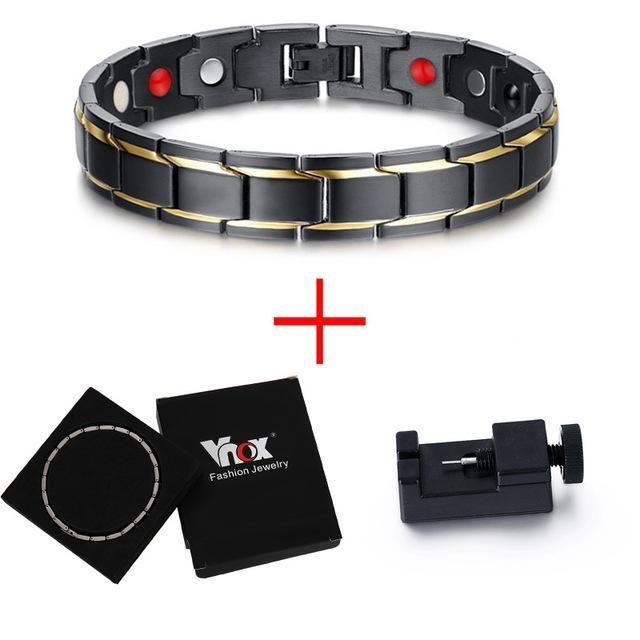 Negative Ion Germanium Magnetic Anti-Infrared Stainless Steel Bracelet