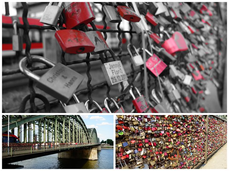 Roadtrip Tag 6 Köln - Grosse Schlösser, Kleine Schlösser, rote, pinke, mystische oder schlichte Schlösser auf der Hohenzollernbrücke sind alle Arten von Liebesschlösser zu finden. Der perfekte Ort um Romantik aufleben zu lassen ;o)