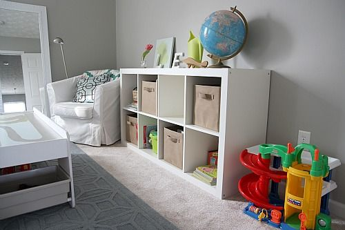 May do this in the living room for toy storage
