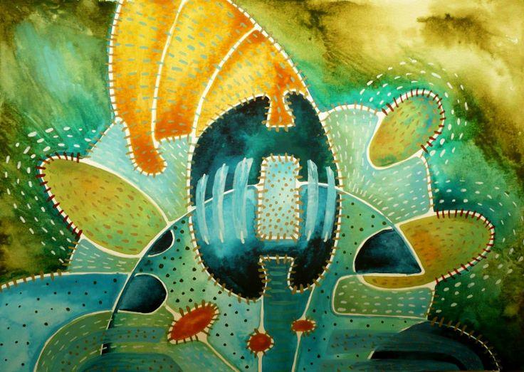 Návštěva Obraz pochází z nové kolekce obrazů vytvořených kombinovanou technikou, kterou jsme si upravila sobě na míru. Od kresby oblíbenými akvarelovými pastely jsem došla ke klasickému akvarelu. Akvarelové barvy jsou zkombinovány s akvarelovým pastelem, který po nastrouhání a rozpuštění ve vodě slouží jako běžné akvarelové barvy, pouze je sytější a ve větší ...