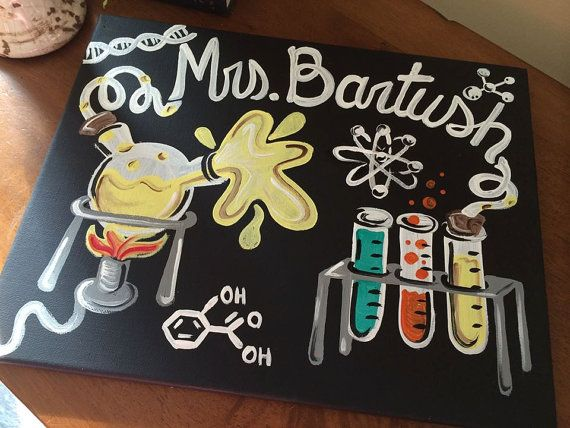 Teacher Door Sign Hanger  Chemistry Teacher Door by MelanieLupien