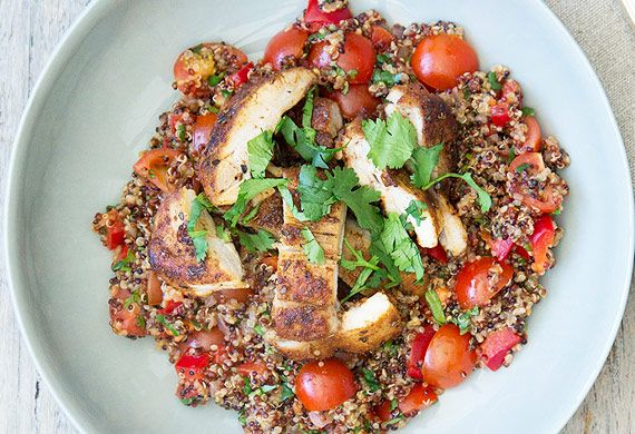 Nadia Lim's Mexican chicken with spiced vegetable, coriander and lime quinoa recipe - 9Kitchen