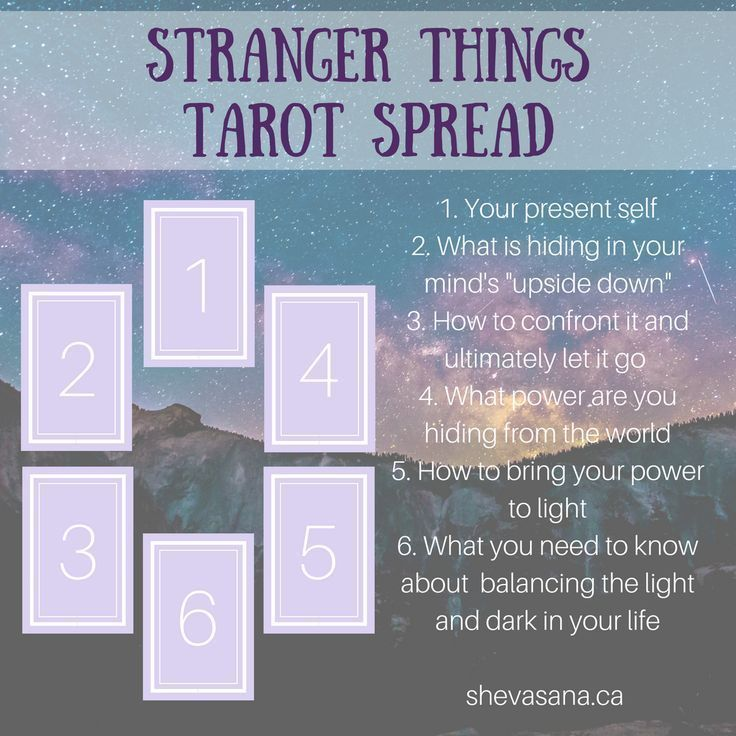 A Stranger Things inspired tarot spread to provide guidance into what you need to leave behind and what you need to bring to light. #tarotcardsmeaning #learningtarotcards