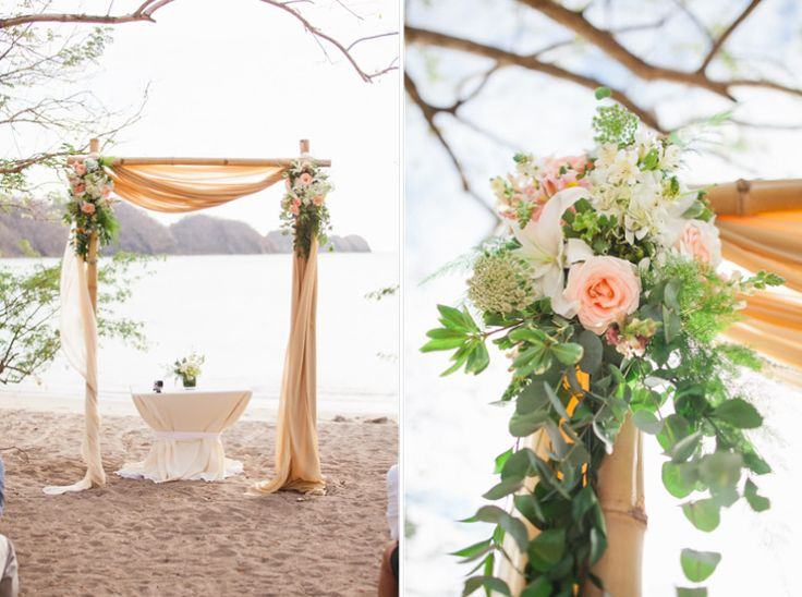 Beautiful Beach Wedding In Costa Rica By Vida Photography Designs And Event Rentals Destination