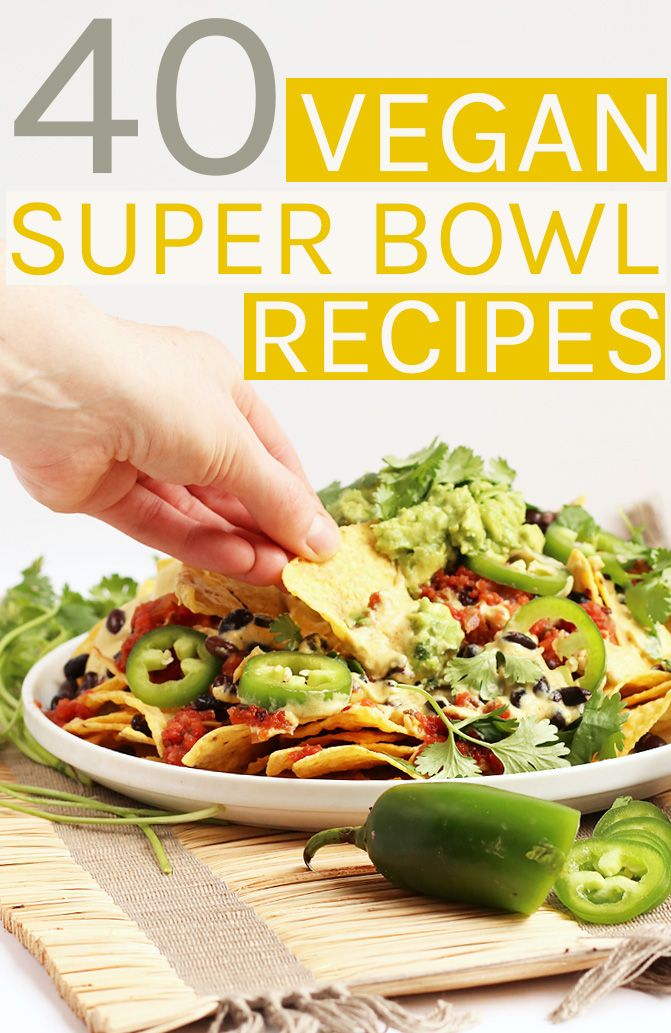 From finger foods to burgers to dessert, this 40 Vegan Super Bowl Recipes roundup has something for everyone to enjoy on game day.