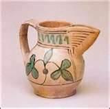 medieval ..13th century maiolica arcaica jug