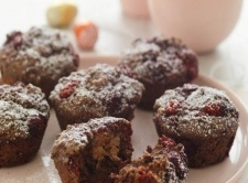 """Raspberry & Chocolate """"Easter"""" Muffins"""