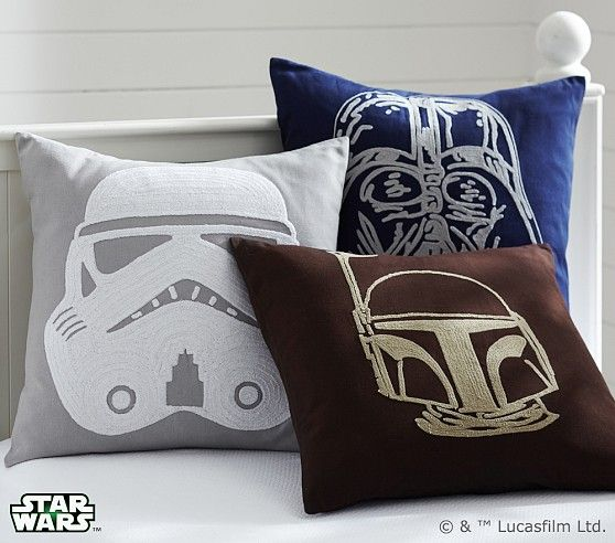Star Wars™ Decorative Shams | Pottery Barn Kids.  I don't care if this is Pottery Barn Kids. I want these.